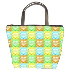Colorful Happy Easter Theme Pattern Bucket Bags