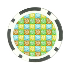 Colorful Happy Easter Theme Pattern Poker Chip Card Guard (10 pack)