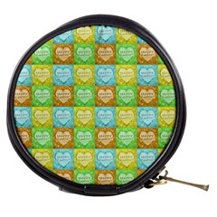 Colorful Happy Easter Theme Pattern Mini Makeup Bags