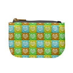Colorful Happy Easter Theme Pattern Mini Coin Purses