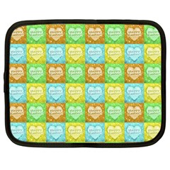 Colorful Happy Easter Theme Pattern Netbook Case (XL)