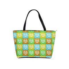 Colorful Happy Easter Theme Pattern Shoulder Handbags