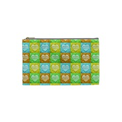 Colorful Happy Easter Theme Pattern Cosmetic Bag (Small)