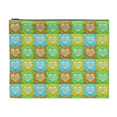 Colorful Happy Easter Theme Pattern Cosmetic Bag (XL)