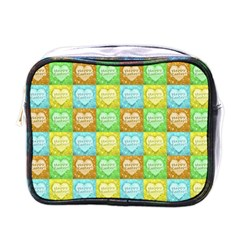 Colorful Happy Easter Theme Pattern Mini Toiletries Bags