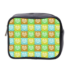 Colorful Happy Easter Theme Pattern Mini Toiletries Bag 2-Side