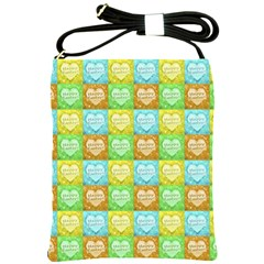 Colorful Happy Easter Theme Pattern Shoulder Sling Bags