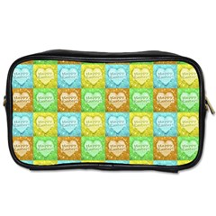 Colorful Happy Easter Theme Pattern Toiletries Bags