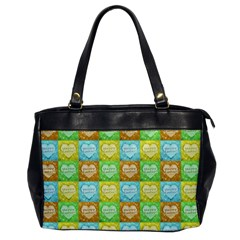 Colorful Happy Easter Theme Pattern Office Handbags