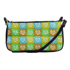 Colorful Happy Easter Theme Pattern Shoulder Clutch Bags