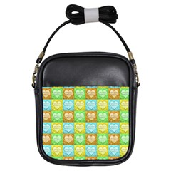 Colorful Happy Easter Theme Pattern Girls Sling Bags