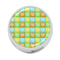 Colorful Happy Easter Theme Pattern 4-Port USB Hub (Two Sides)