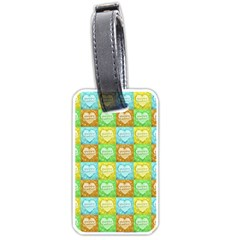 Colorful Happy Easter Theme Pattern Luggage Tags (One Side)
