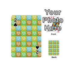 Colorful Happy Easter Theme Pattern Playing Cards 54 (Mini)