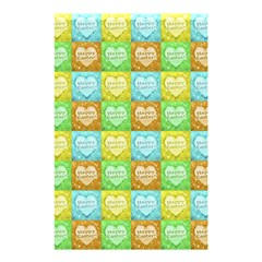 Colorful Happy Easter Theme Pattern Shower Curtain 48  x 72  (Small)