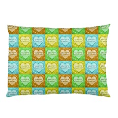 Colorful Happy Easter Theme Pattern Pillow Case (Two Sides)