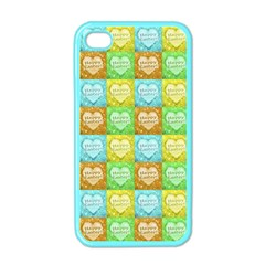 Colorful Happy Easter Theme Pattern Apple iPhone 4 Case (Color)