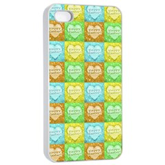 Colorful Happy Easter Theme Pattern Apple iPhone 4/4s Seamless Case (White)