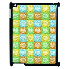 Colorful Happy Easter Theme Pattern Apple iPad 2 Case (Black)
