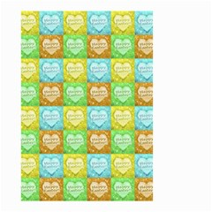 Colorful Happy Easter Theme Pattern Small Garden Flag (Two Sides)