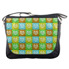 Colorful Happy Easter Theme Pattern Messenger Bags