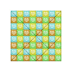 Colorful Happy Easter Theme Pattern Acrylic Tangram Puzzle (4  x 4 )