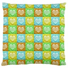 Colorful Happy Easter Theme Pattern Large Cushion Case (Two Sides)