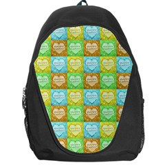 Colorful Happy Easter Theme Pattern Backpack Bag
