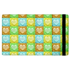 Colorful Happy Easter Theme Pattern Apple iPad 2 Flip Case
