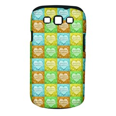 Colorful Happy Easter Theme Pattern Samsung Galaxy S III Classic Hardshell Case (PC+Silicone)
