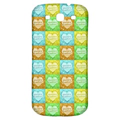 Colorful Happy Easter Theme Pattern Samsung Galaxy S3 S III Classic Hardshell Back Case