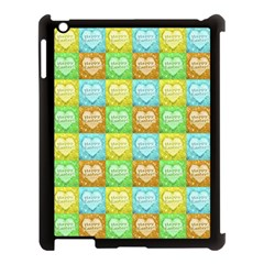 Colorful Happy Easter Theme Pattern Apple iPad 3/4 Case (Black)