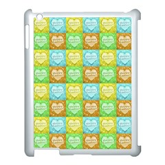 Colorful Happy Easter Theme Pattern Apple iPad 3/4 Case (White)