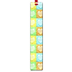 Colorful Happy Easter Theme Pattern Large Book Marks
