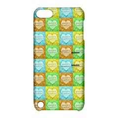 Colorful Happy Easter Theme Pattern Apple iPod Touch 5 Hardshell Case with Stand