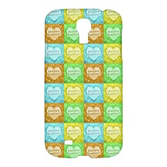 Colorful Happy Easter Theme Pattern Samsung Galaxy S4 I9500/I9505 Hardshell Case