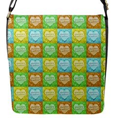 Colorful Happy Easter Theme Pattern Flap Messenger Bag (S)