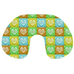Colorful Happy Easter Theme Pattern Travel Neck Pillows