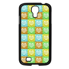 Colorful Happy Easter Theme Pattern Samsung Galaxy S4 I9500/ I9505 Case (Black)