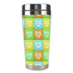Colorful Happy Easter Theme Pattern Stainless Steel Travel Tumblers