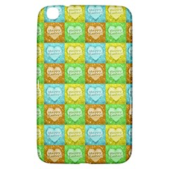 Colorful Happy Easter Theme Pattern Samsung Galaxy Tab 3 (8 ) T3100 Hardshell Case