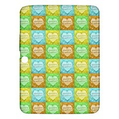 Colorful Happy Easter Theme Pattern Samsung Galaxy Tab 3 (10.1 ) P5200 Hardshell Case