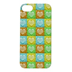 Colorful Happy Easter Theme Pattern Apple iPhone 5S/ SE Hardshell Case