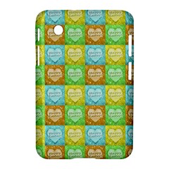 Colorful Happy Easter Theme Pattern Samsung Galaxy Tab 2 (7 ) P3100 Hardshell Case
