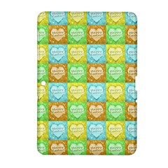 Colorful Happy Easter Theme Pattern Samsung Galaxy Tab 2 (10.1 ) P5100 Hardshell Case