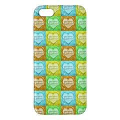 Colorful Happy Easter Theme Pattern iPhone 5S/ SE Premium Hardshell Case
