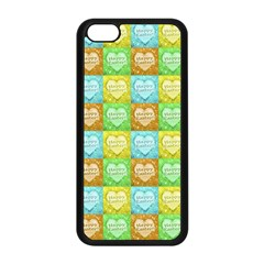 Colorful Happy Easter Theme Pattern Apple iPhone 5C Seamless Case (Black)