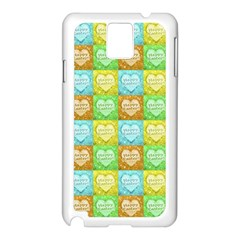 Colorful Happy Easter Theme Pattern Samsung Galaxy Note 3 N9005 Case (White)