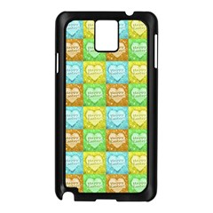 Colorful Happy Easter Theme Pattern Samsung Galaxy Note 3 N9005 Case (Black)