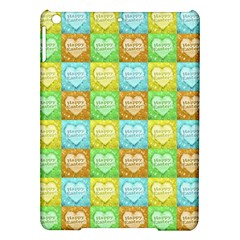 Colorful Happy Easter Theme Pattern iPad Air Hardshell Cases